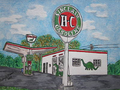 Dino Sinclair Gas Station Poster