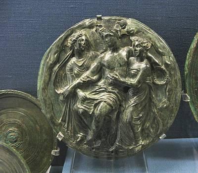Dionysos With Maenads Poster