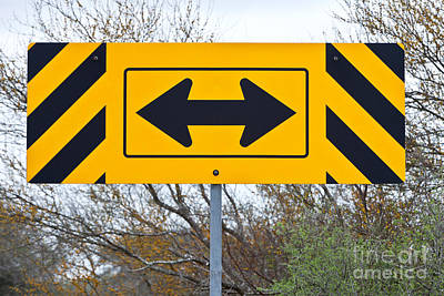 Directional Traffic Sign Poster by Inga Spence