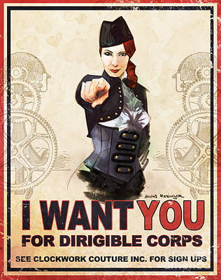 Dirigible Corps Poster by Brian Kesinger