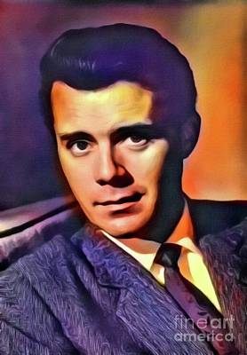 Dirk Bogarde, Vintage Actor. Digital Art By Mb Poster by Mary Bassett