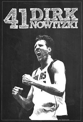 Dirk Nowitzki Poster by Semih Yurdabak