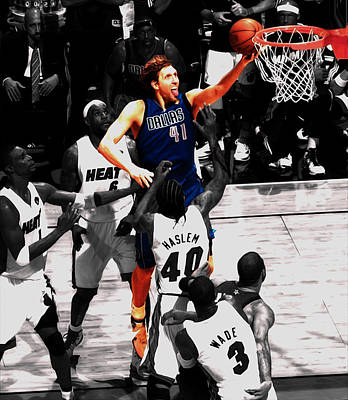 Dirk Nowitzki Soft Touch Poster by Brian Reaves