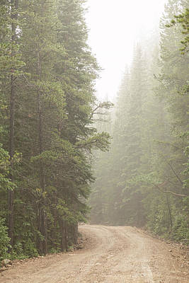Poster featuring the photograph Dirt Road Challenge Into The Mist by James BO Insogna