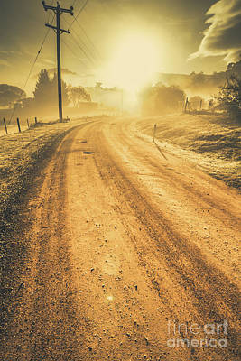 Dirt Road Sunrise Poster by Jorgo Photography - Wall Art Gallery
