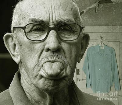 Dirty Blue Shirt Poster by Jan Piller