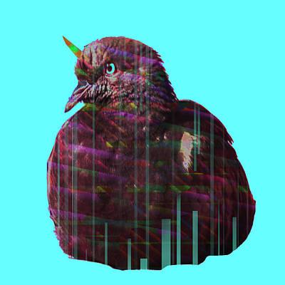 Disco Pigeon Unicorn Poster