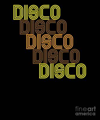9e39bdb071c9b Disco Repeat Brown 1970s Disco Funk Vintage Retro Neon Light Funky Poster