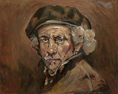 Disguised As Rembrandt Van Rijn Poster by Nop Briex