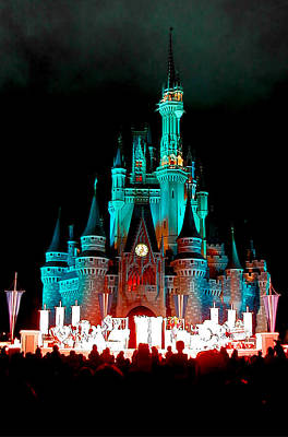 Poster featuring the photograph Disney World Night by John Haldane
