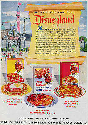 Disneyland And Aunt Jemima Pancakes  Poster by ReInVintaged