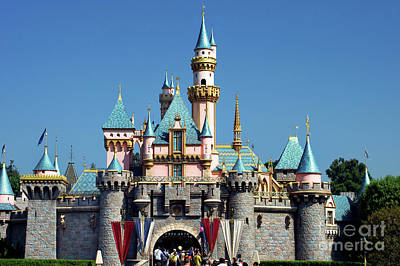 Poster featuring the photograph Disneyland Castle by Mariola Bitner