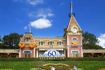 Poster featuring the photograph Disneyland Entrance by Mark Andrew Thomas