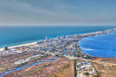 Distant Aerial View Of Gulf Shores Poster
