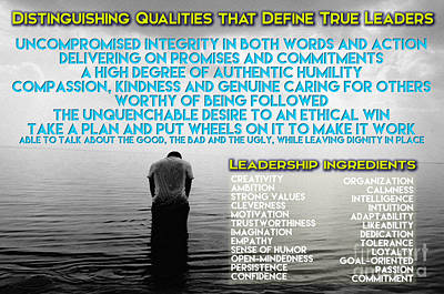 Distinguishing Qualities That Define True Leaders Poster by Celestial Images