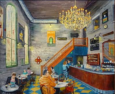 Distllery Coffee Shop Poster by Brent Arlitt