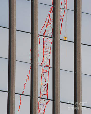 Distorted Reflection Of A Tower Crane Poster by Thom Gourley/Flatbread Images, LLC