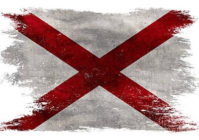 Distressed Alabama Flag Poster
