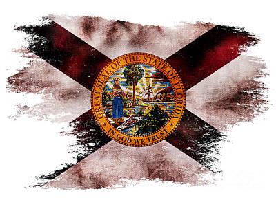 Distressed Florida Flag Poster