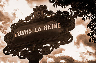 Distressed Parisian Street Sign Poster
