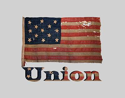 Distressed Union Army Civil War Flag Poster