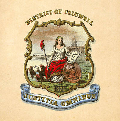 District Of Columbia Historical Coat Of Arms Circa 1876 Poster by Serge Averbukh