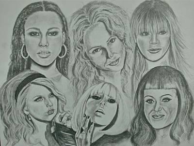 Divas Now Poster by Sandra Valentini