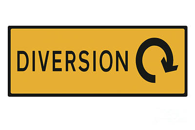 Diversion Bringing Drivers Round In Circles. Poster
