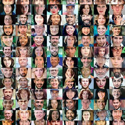 Diversity Faces Mosaic Poster