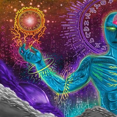 Divine Spirit Poster by Juan Carlos Valenzuela