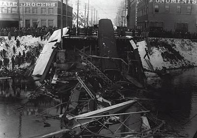 Division St Bridge Collapse - Spokane 1915 Poster