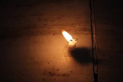 Diwali Candle, Vrindavan Poster by Jennifer Mazzucco