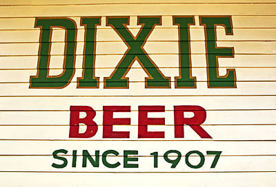 Dixie Beer Poster by Federico Arce