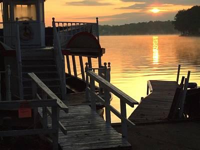Dixie Boat Sunrise Poster