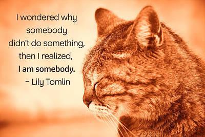 Do Something - Orange Cat Poster