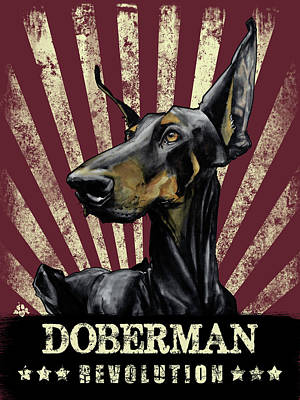 Doberman Revolution Poster