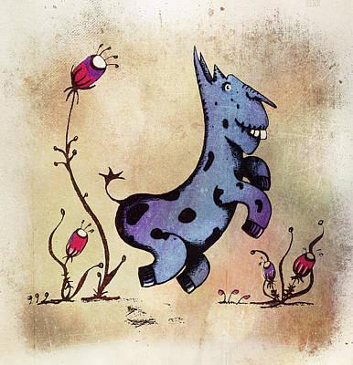 Dobo The Donkey Poster by Lenny Carter