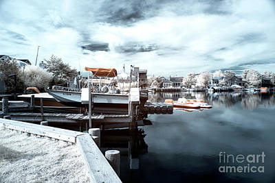 Dock Angles Infrared Poster by John Rizzuto