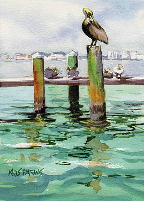 Poster featuring the painting Dock O' The Bay by Kris Parins