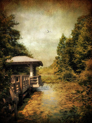 Dock On The Wetlands Poster by Jessica Jenney