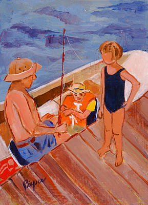 Dockside Negotiation On Who Is Fishing Poster