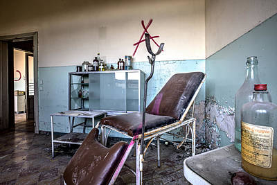 Doctor Chair Awaits Patient - Urbex Poster by Dirk Ercken