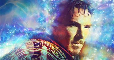 Doctor Strange Poster by Elena Kosvincheva