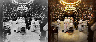 Doctor - Surgeon - Standing Room Only 1902 Side By Side Poster by Mike Savad