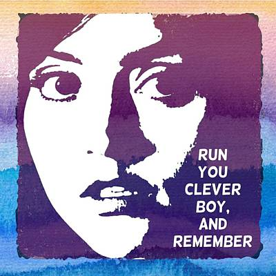 Doctor Who Inspired Clara, Run You Clever Boy Poster by Alondra Hanley