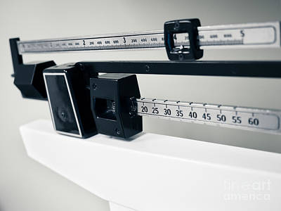 Doctor's Sliding Weight Balance Beam Scale Poster by Paul Velgos