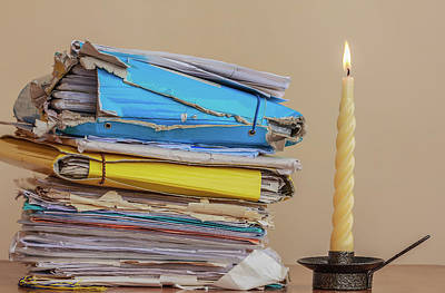Documents To Be Read  In The Light Of A Candle Poster