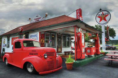 Poster featuring the photograph Dodge At Cruisers by Lori Deiter