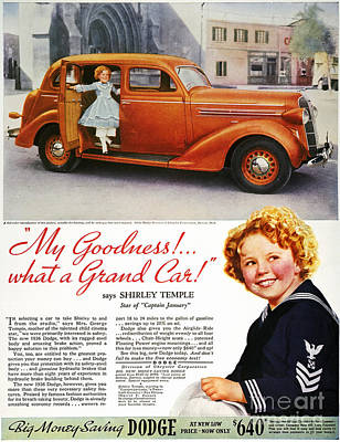 Dodge Automobile Ad, 1936 Poster by Granger