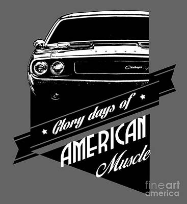 Dodge Challenger Muscle Poster